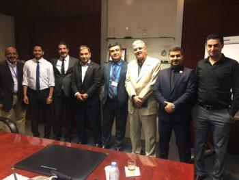 جلسه مدیریتی شرکت هیوا صنعت و شرکت SKM
